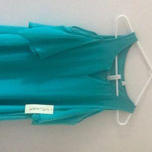 Tacura NWT ocean lblue cold shoulder dress.